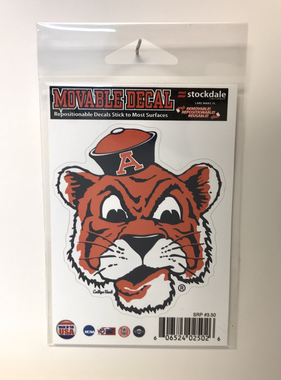 "3"" Vintage Aubie Movable All Surface Decal"