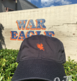 Navy Hat with Small Orange Eagle