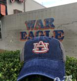 AU Mesh Snapback Trucker Hat, Denim, OSFA