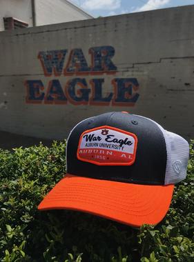 Three-Tone Auburn War Eagle Verge Mesh Hat