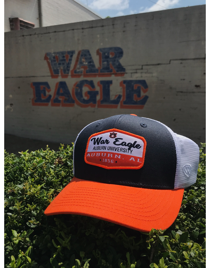 Three-Tone Auburn War Eagle Verge Mesh Hat
