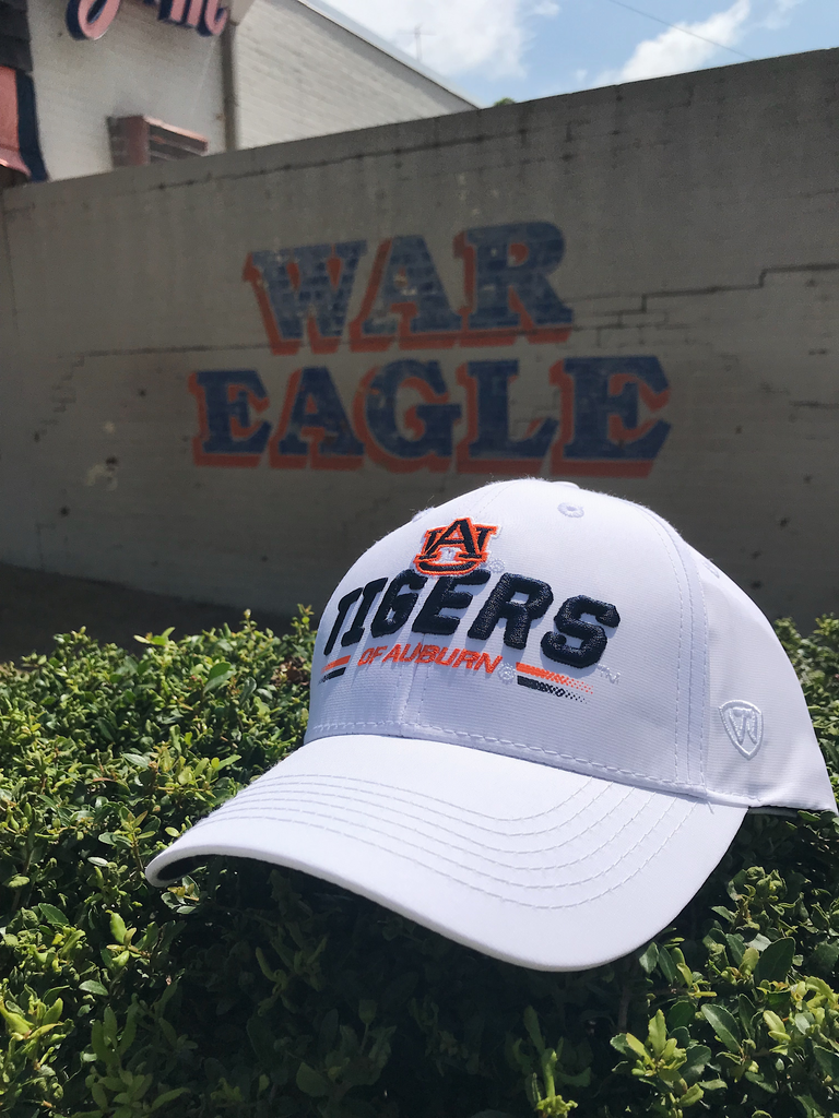 AU Tigers of Auburn Centralize Hat, White
