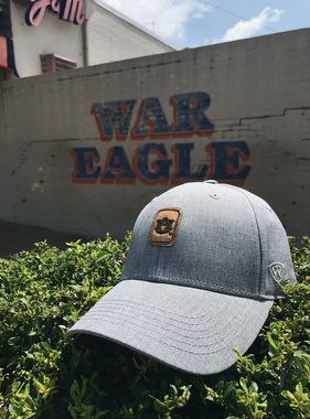 AU Solid Grey with Brown Patch Hat