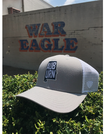 State Outline AUBURN Two-Tone Mesh Hat