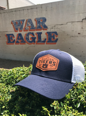 Auburn Tigers AU on Brown Diamond Patch Two-Tone Mesh Hat