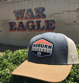 Auburn Tigers Diamond Patch Three Tone Mesh Hat