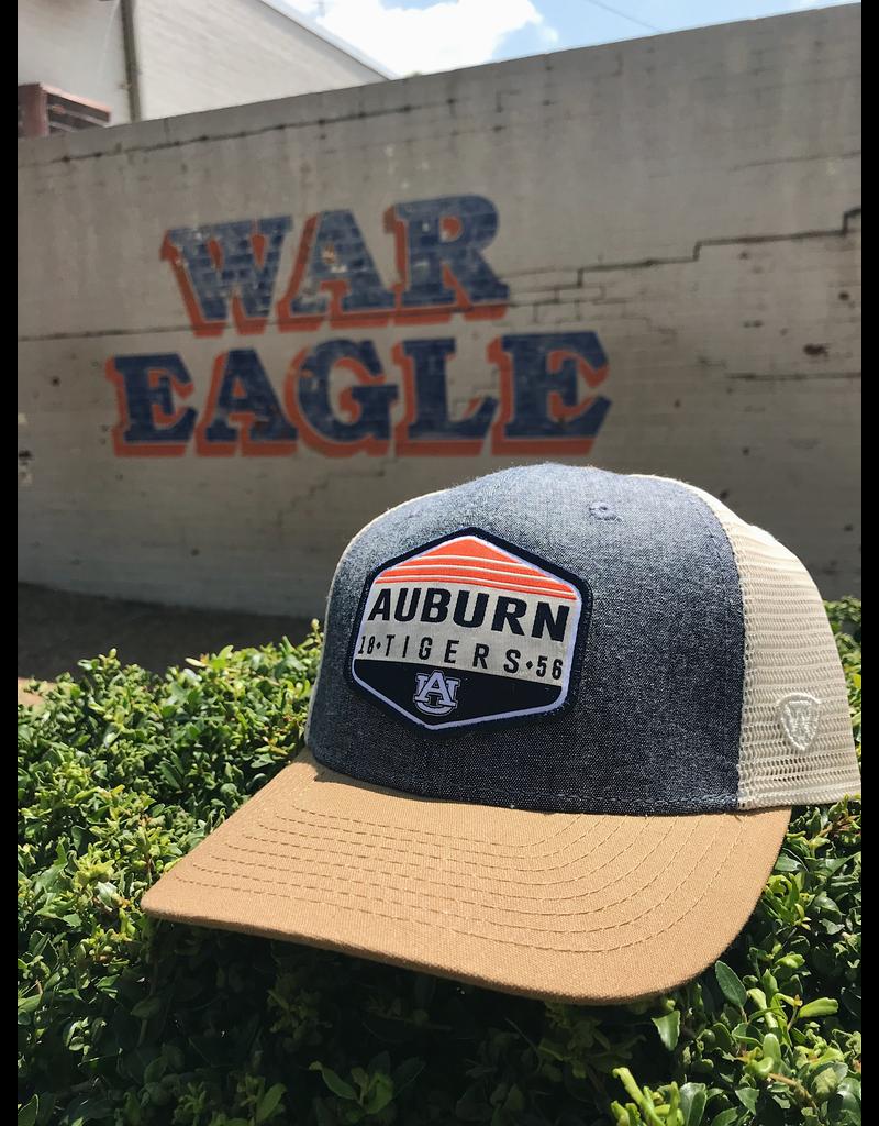 Auburn Tigers Diamond Patch Three Tone Mesh Hat