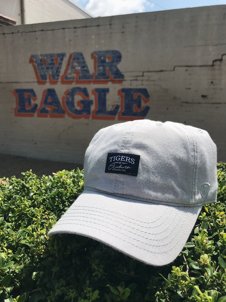 Tigers of Auburn Patch on Solid Grey Hat