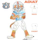 Aubie Football T-Shirt