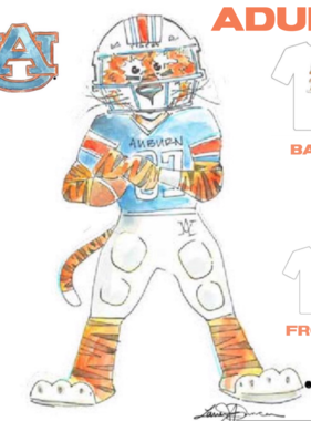 Aubie Football T-Shirt