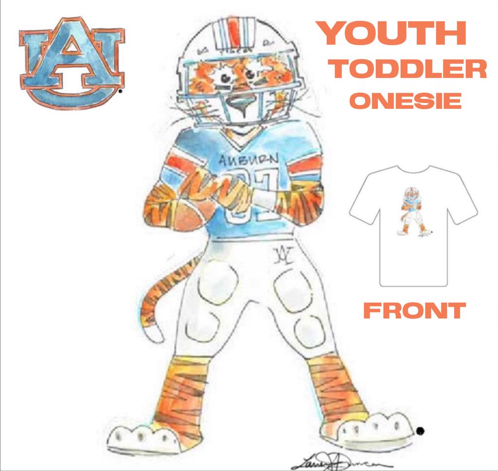Aubie Football Youth T-Shirt
