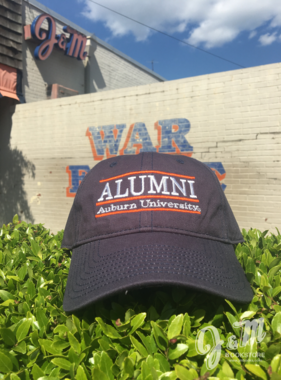 The Game Alumni Three Bar Auburn University Navy Hat