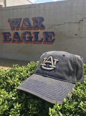 Distressed Navy Hat with Khaki AU