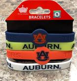 Auburn 4 pack Silicon Bracelets