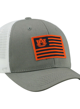AU Orange and Navy Stripe Grey Mesh Hat