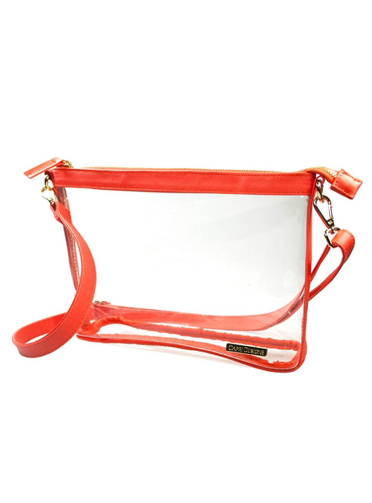 Capri Designs Orange Large Crossbody Bag
