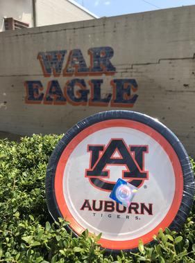 "Auburn 7"" Plate 12 Count"