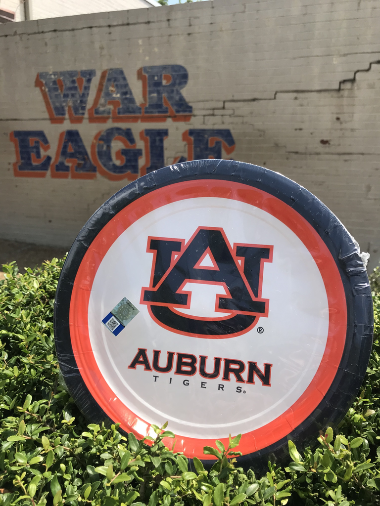 "Auburn 9"" Plate 10 Count"