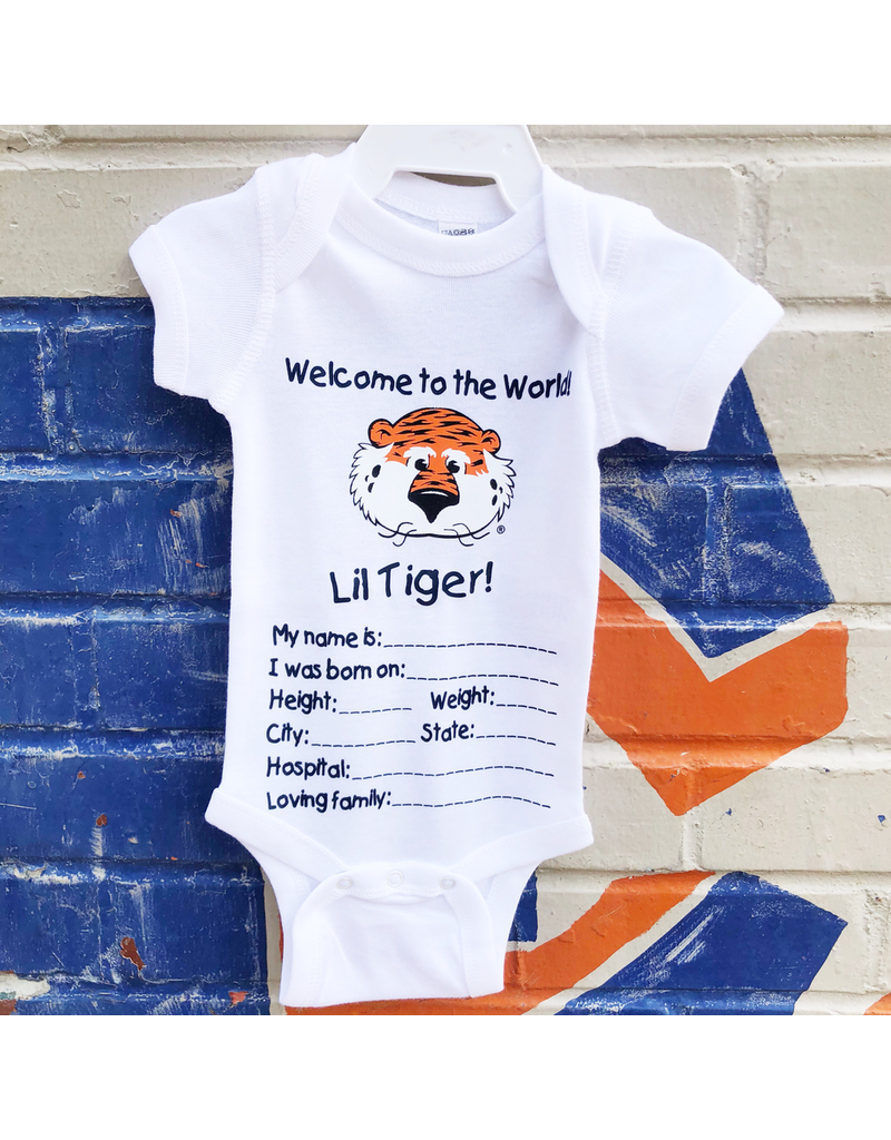 Two Feet Ahead Welcome to the World Lil Tiger Onesie