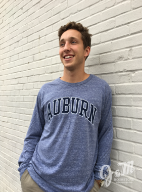 League Arch Auburn Tri-Blend Long Sleeve T-Shirt