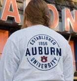 League Established 1856 Auburn University Circle Design Long Sleeve Pocket T-Shirt