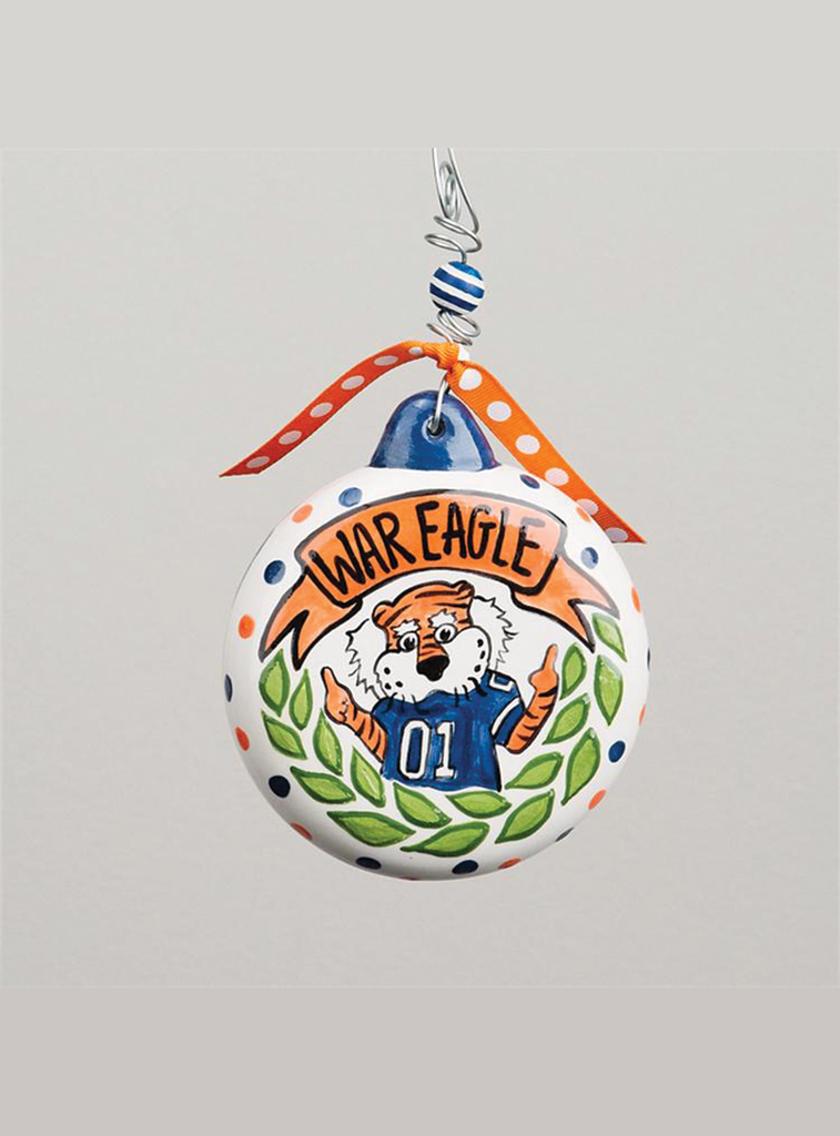 Auburn Aubie Puff Ornament