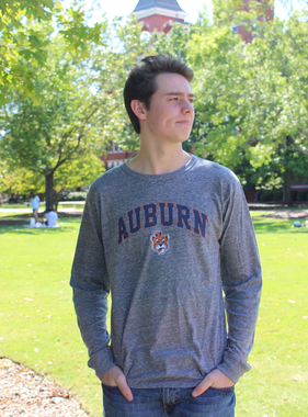League Arch Auburn Vintage Aubie Victory Falls Long Sleeve T-Shirt