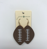 Jane Marie Leather Football Earrings