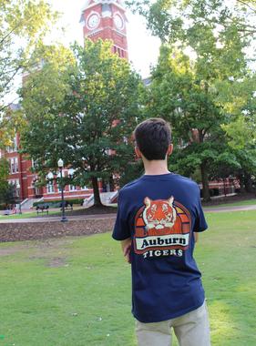 Vintage Tiger Portrait Auburn Tigers T-Shirt
