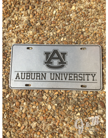AU Auburn University Block License Plate