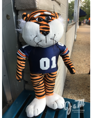 "12"" Aubie Stuffed Animal with 01 Jersey"