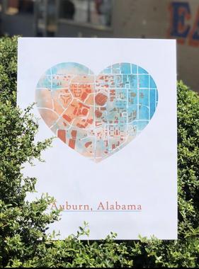 Jason Wren 16x20 Heart Map