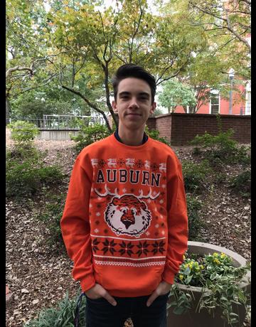 Auburn University Christmas Sweater with New Aubie Antlers