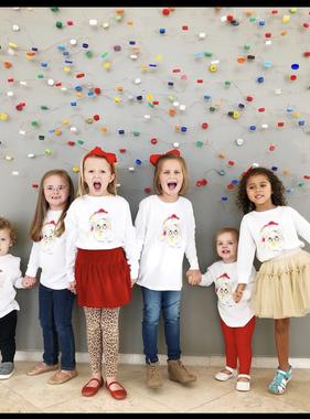 The Local Market Watercolor Santa Toddler Long Sleeve T-Shirt