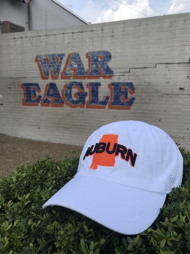 Auburn over Orange State Outline Hat