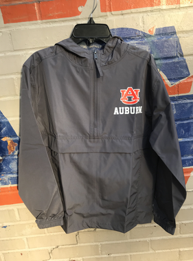 AU Auburn 1/2 Zip Youth Pack N Go Pullover