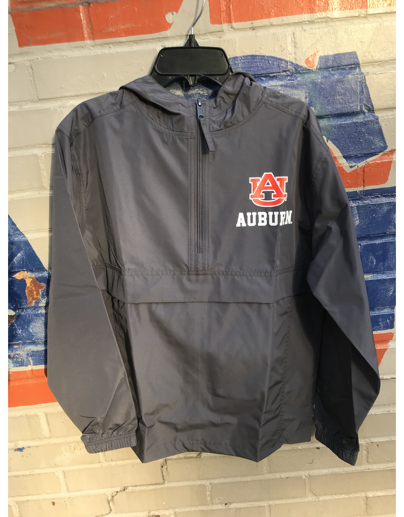 AU Auburn 1/2 Zip Youth Pack N Go Pullover