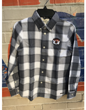 New Aubie Cooper Youth Flannel Button Up