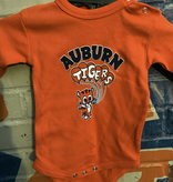 Cute Aubie with Auburn Tigers Balloons Infant Long Sleeve Bodysuit