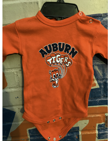 Cute Aubie with Auburn Tigers Balloons Infant Long Sleeve Bodysuit