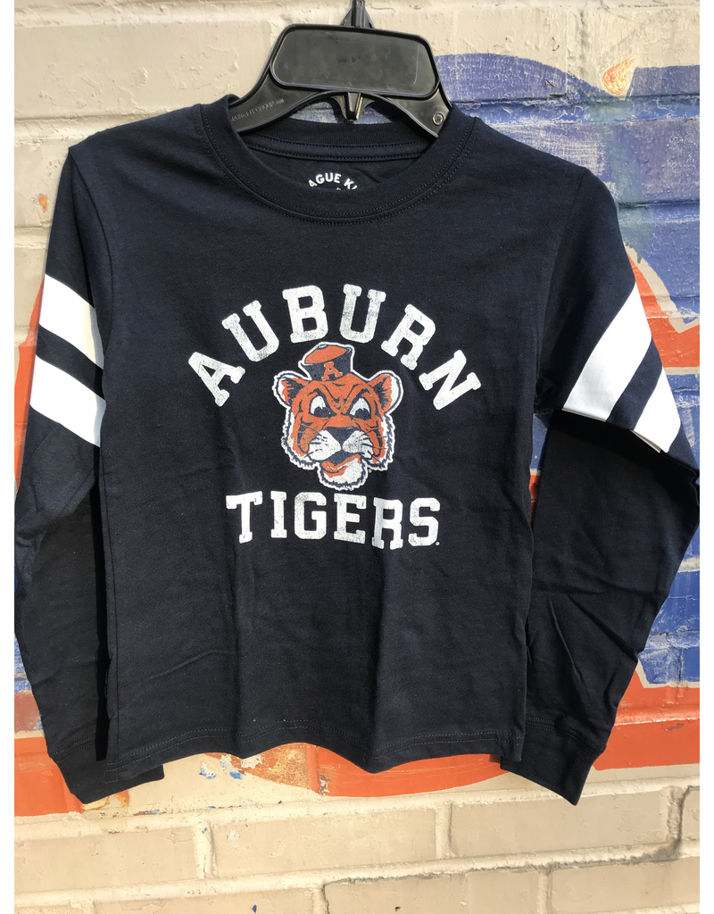 League Arch Auburn Vintage Aubie Tigers Sporty Stripe Long Sleeve T-Shirt