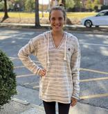Tigerwear AU Ladies V-Neck Heather Baja Hoodie