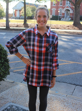 Auburn University Plaid Tunic