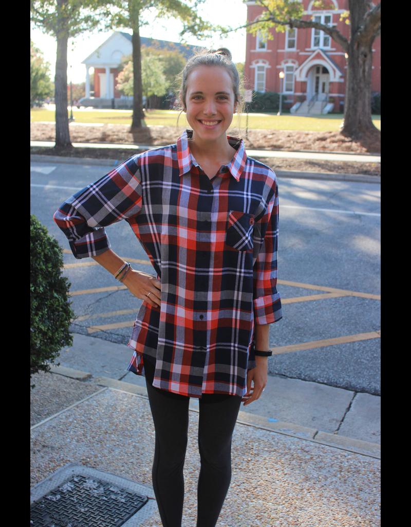Auburn University Plaid Tunic