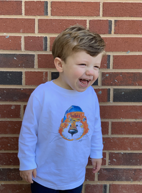 Watercolor Aubie Clause Toddler Long Sleeve T-Shirt