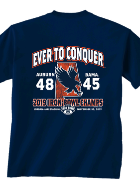 Ever to Conquer 2019 Iron Bowl Short Sleeve T-Shirt