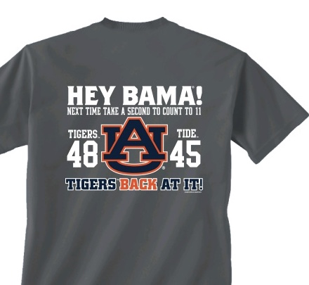 Take a Second 2019 Iron Bowl T-Shirt