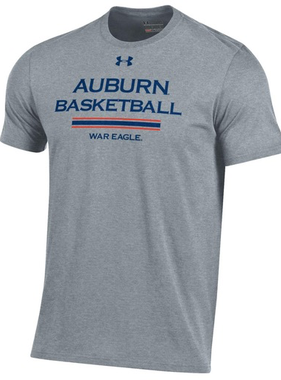 Under Armour Auburn Basketball War Eagle Stripe Bi-Blend T-Shirt
