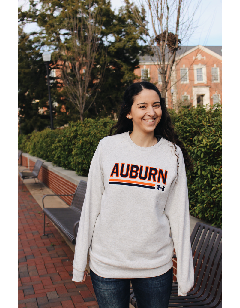 Under Armour Block Auburn Double Bar Crew