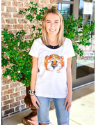 Classic Aubie Ladies Scoop Neck T-Shirt